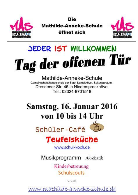 Musterbrief Einladung Tag Der Offenen T R Mathilde Anneke Schule Jeder Ist Willkommen Seite 13
