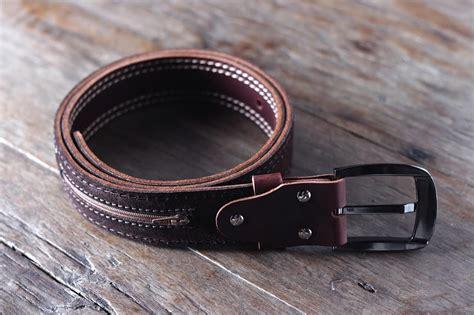 mens leather belt with pocket joojoobs