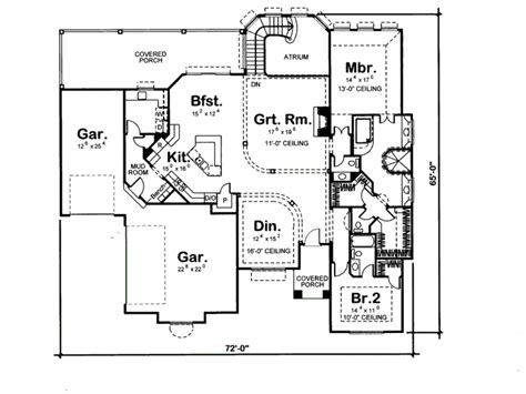 455 square feet mediterranean style house plan 4 beds 3 50 baths 2490 sq