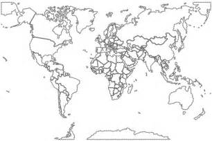 world map coloring pages with countries