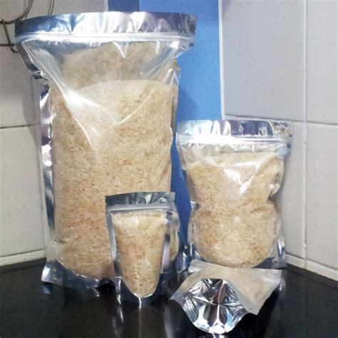 sturdy mylar clear stand up food storage bag pouch
