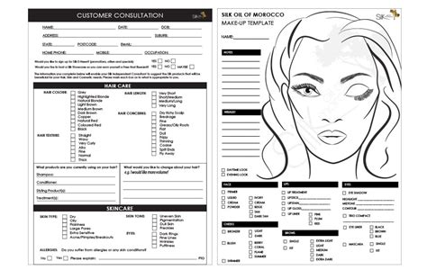 client consultation form template makeup artist client consultation form mugeek vidalondon