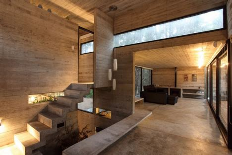 concrete and wood house modern designs within gallery of modern masonry cool concrete cabin warm wood patio