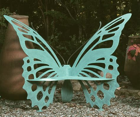 metal butterfly bench benches