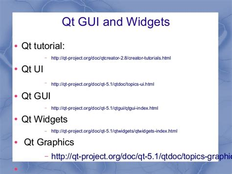 qt tutorial ppt qt 5 c and widgets