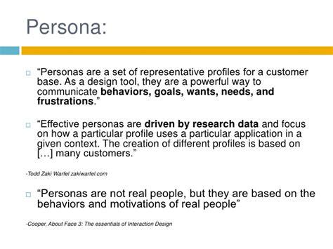 design definition literature personas in product design