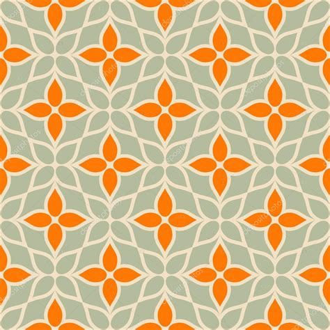 flower pattern modern vintage vector geometric background floral modern