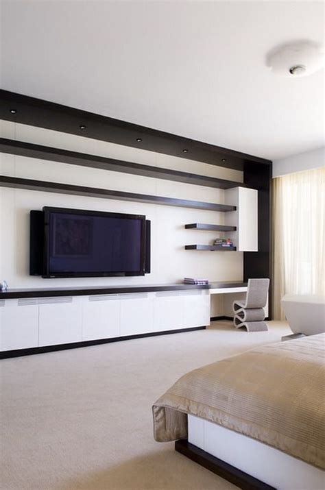 contemporarybedroomwallunits modern wall tv unit