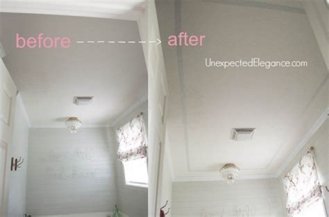 how to prepare a bathroom ceiling for painting add height to your ceiling using paint hometalk