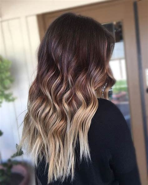 photos brown hair with blpnde ends 27 stunning blonde highlights for dark hair page 2 of 3
