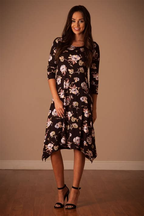 Modesty A New Trend In Womens Clothing by Black Floral Modest Dress Affordable Modest Boutique