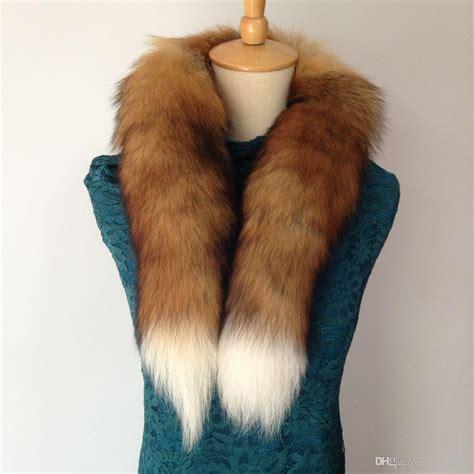 winter fur scarf  real natural fox fur collar