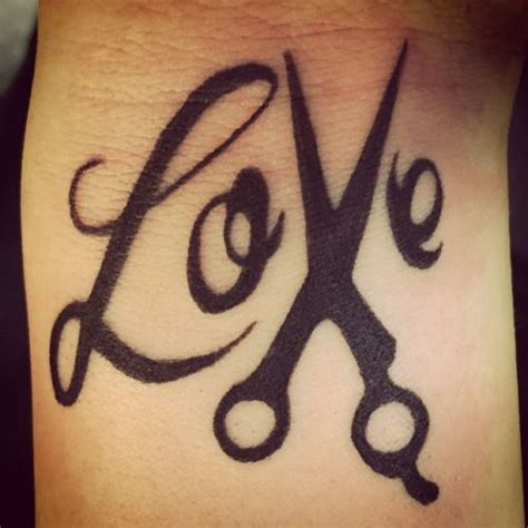 Love Tattoo With Scissors | love with scissors tattoo love scissors hairdressing
