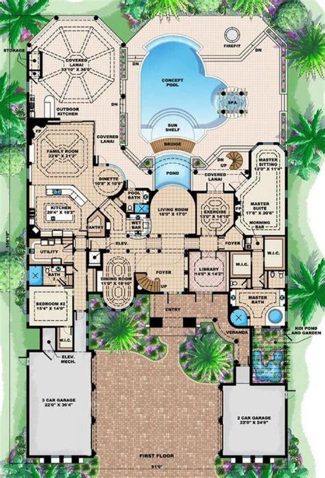 mediterranean mansion floor plans mediterranean home floor plans with pictures
