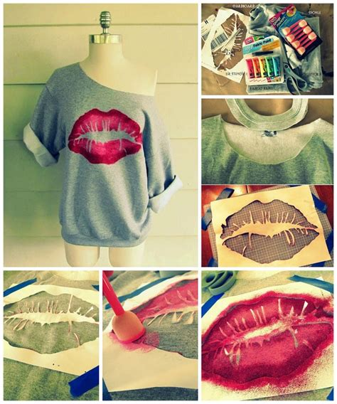 diy projects clothes me lip sweatshirt diy alldaychic