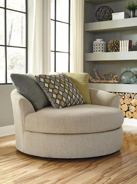 contemporary linen casheral contemporary linen oversized swivel accent chair