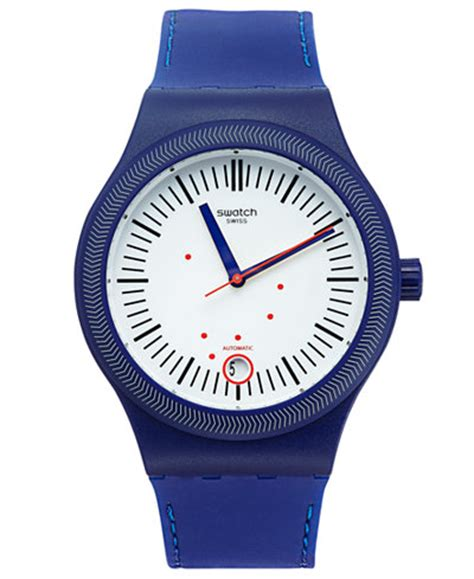 Swatch Swiss Black Blue swatch s swiss sistem grid blue silicone