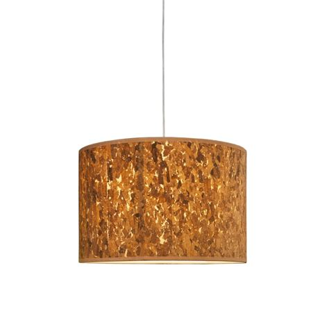 l shade wide fitting natural cork drum pendant shade lighting company
