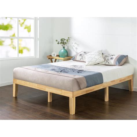 natural wood bed zinus natural full solid wood platform bed frame hd rwpb