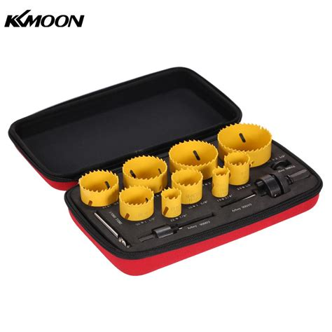 Promo Holesaw Kit Saw Kit Set 13 Pcs Mata Bor Pelubang Kayu Pipa 13pcs drill tools herramientas furadeira saw kit drilling tool arbor pilot drill set for