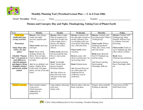 42 Child Care Lesson Plan Template Sle Toddler Lesson Plan 8 Exle Format Lesson Plan Template For Child Care