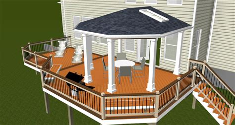porch blueprints covered porch design rendering highland md maryland