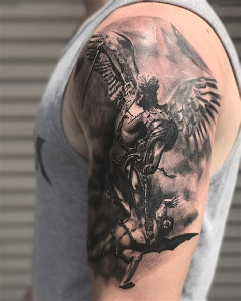 interesting st michael tattoos with powerful meanings