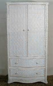 White Wicker Armoire All About Wicker