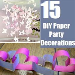 How To Make Paper Decorations For Birthday - 15 easy diy paper decorations bash corner
