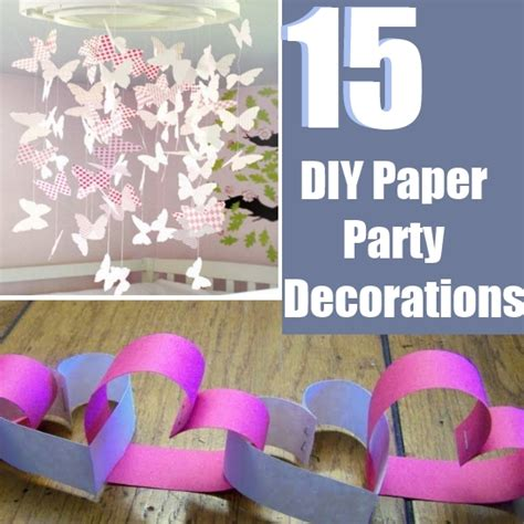 party themes easy 15 easy diy paper party decorations bash corner