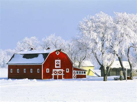 Winter Barn nature canada barn hoarfrost 1600x1200 wallpaper nation canada hd landscapes barn farm