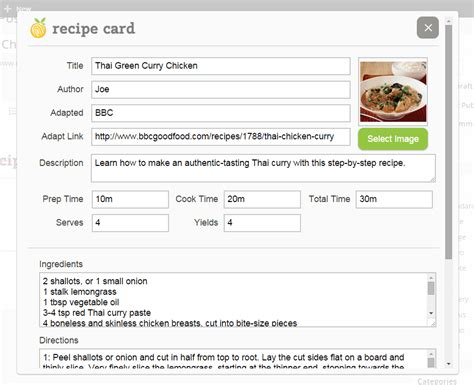professional recipe template recipe card a free plugin for publishing recipes