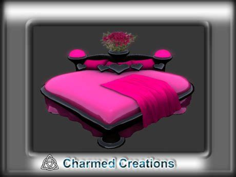 heart bed second life marketplace romantic heart shaped bed inc cuddle kiss animations