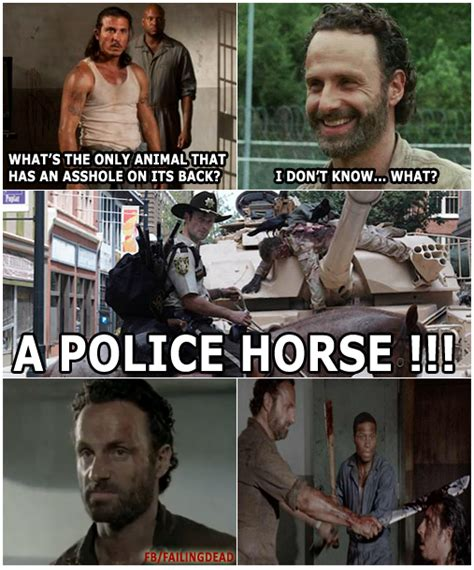 The Walking Dead Funny Memes - rick grimes can t take a joke failing dead