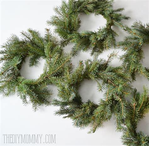making evergreen christmas wreaths