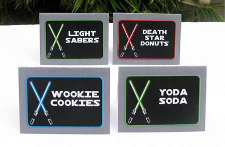 Star Wars Jedi Training Birthday Party Printables Wars Food Labels Template Free