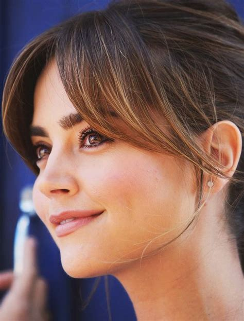 swepped over fringe hairstyles jenna coleman side swept bangs side sweep bangs sweep