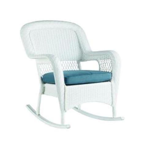 white outdoor rocking chair home depot martha stewart living charlottetown white all weather