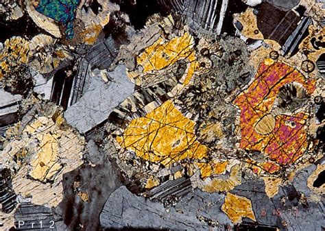 hypersthene in thin section paleogeology gabbro