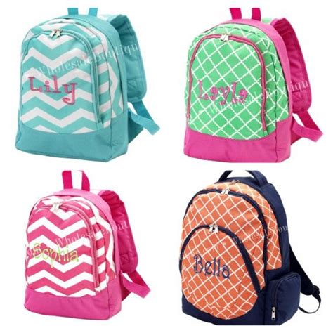monogram personalized back pack book bag by