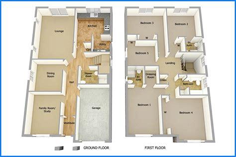14 Denah Rumah Minimalis 2 Lantai Modern Sederhana 2017 2 Story House Floor Plans 3d