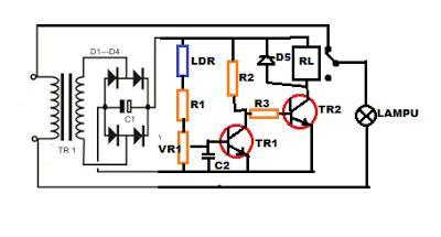 Saklar Otomatis Lu Jalan rangkaian lu jalan otomatis sensor cahaya masputz