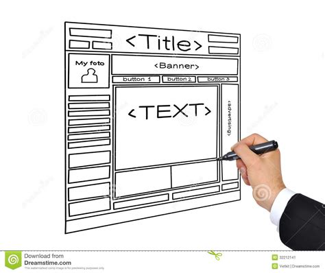 drawing web page drawing web page stock image image 32212141