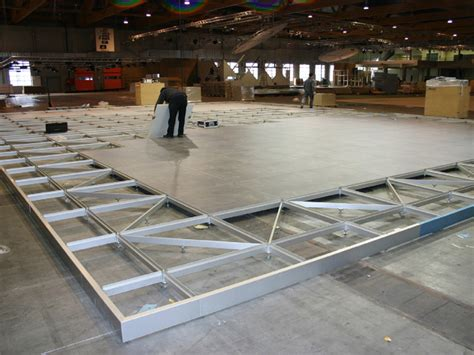 exhibit design search a p raised flooring system
