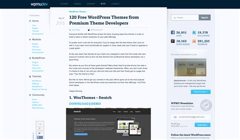 wordpress themes with video free wordpress themes the ultimate guide wpmu dev