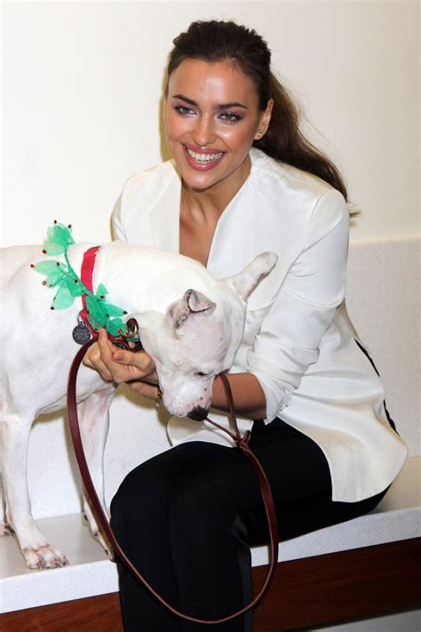 adoption centers irina shayk at aspca adoption center in new york
