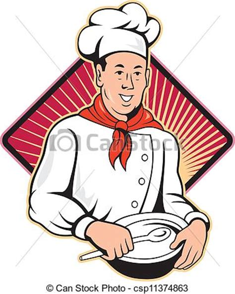 clipart cuoco clip de vectores de chef cocinero panadero