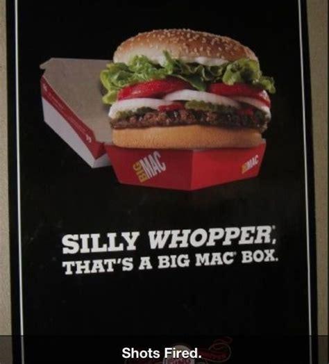 Big Mac Meme - silly whopper that s a big mac box