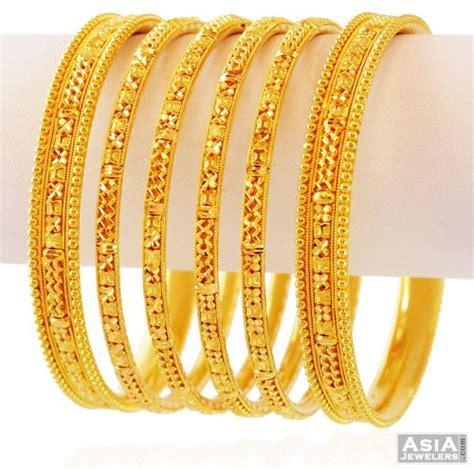 Bangles India Size L 24 22k gold bangles set set of 6 ajba59339 gold bangles