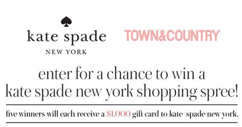 Town Country Sweepstakes - town country magazine kate spade sweepstakes
